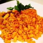 Белая фасоль с рисом и соусом софрито