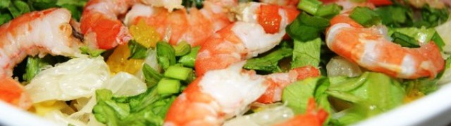 Салат с креветками по-тенерифски (ensaladaTenerife)