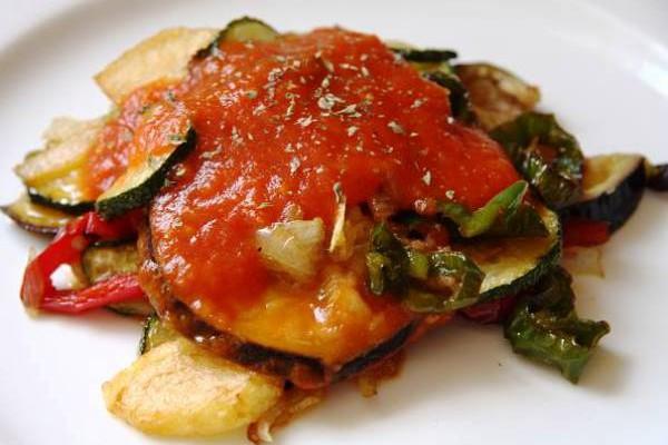 Тумбет майоркин (Tumbet Mallorquin) - жареный баклажан с овощами