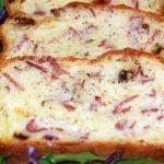 Пирог с ветчиной, сыром и розмарином