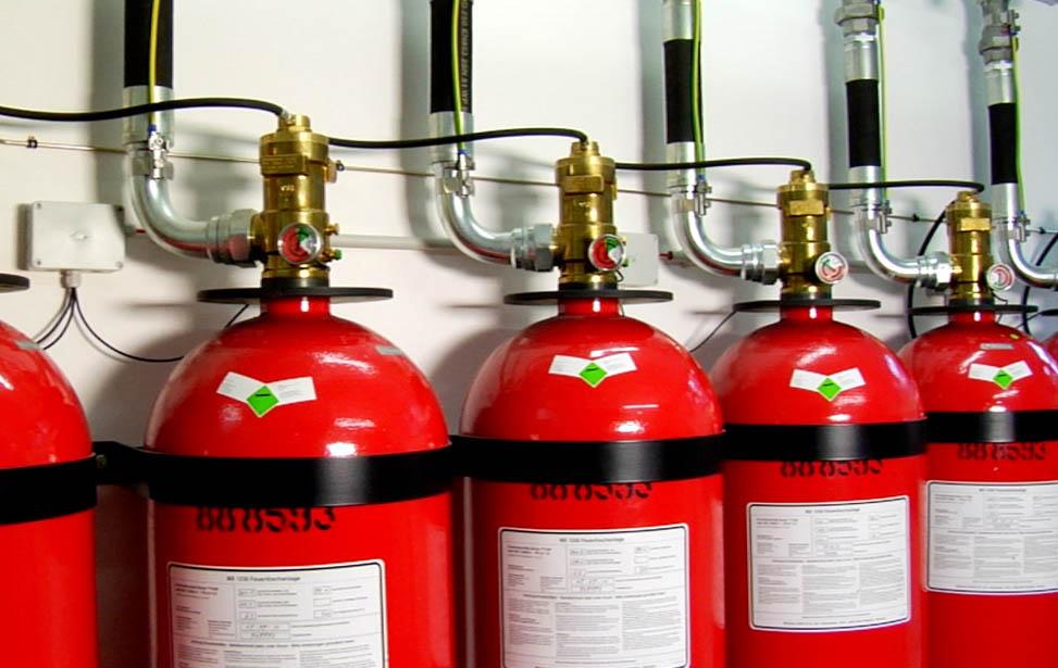Где целесообразно использовать газовое пожаротушение